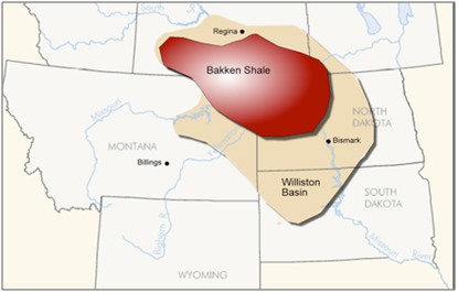 Bakken oil in North Dakota